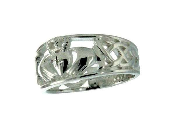 Claddagh Diamond Tapered Ring
