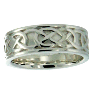 "Oxidized Celtic Love Knot ""Belston"" Ring"