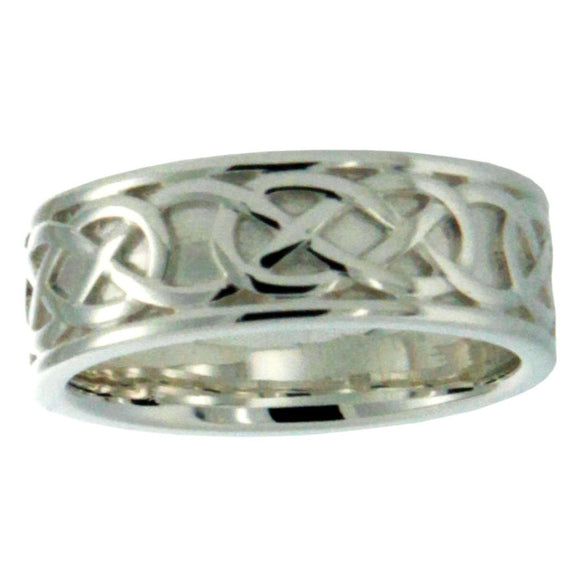 Oxidized Celtic Love Knot