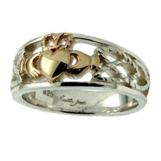 Small Tapered Claddagh Ring