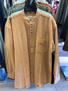 Civilian Cotton Retro Irish Shirt - Fudge