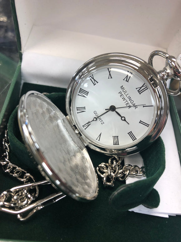 Quartz Pewter Pocket Watch