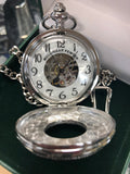 Pewter Mechanical Pocket Watch