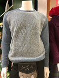 Lambswool Herringbone Crew Neck Sweater
