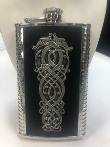 9oz Stainless Steel with Leather Flask