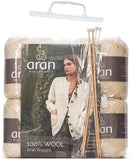 Aran Sweater Knitting Kit with Pattern and Needles