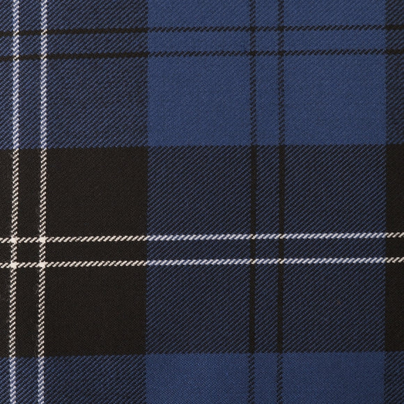 Ramsay Blue Tartan Poly Viscose Cloth