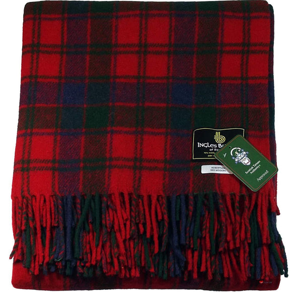 Robertson Red Tartan Throw