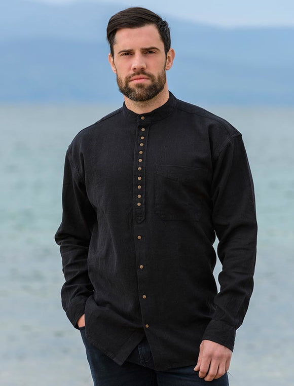 Civilian Grandfather Shirt - Black
