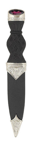 Nevis Thistle Sgian Dubh With Stone Top