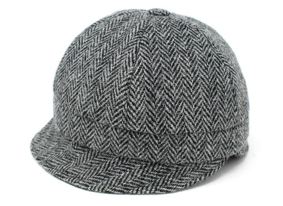Ladies Classic Black and White Herringbone Tweed Slieve League Hat