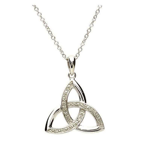 Celtic Trinity Diamond Set Necklace