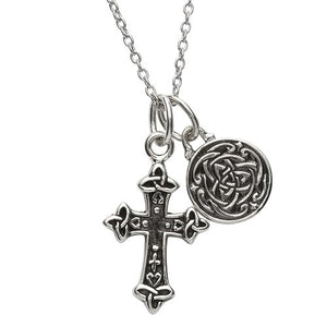 Silver Two Piece Celtic Trinity Pendant