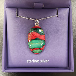 Oval Heather Sterling Silver Pendant