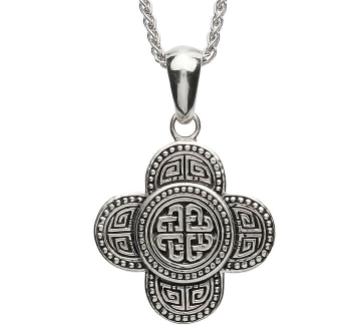 Small Silver Celtic Tribal Knot Necklace