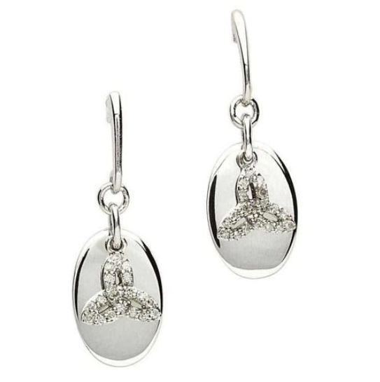 Trinity Knot Earrings with Diamonds