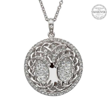 Tree of Life Swarovski Crystal Pendant