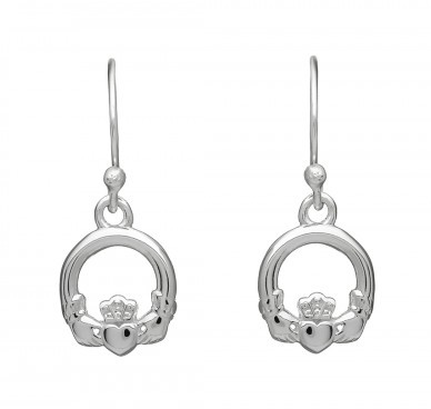 Claddagh Small Drop Earrings