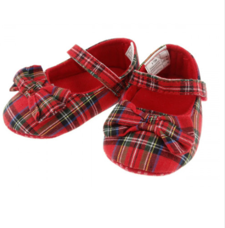Royal Stewart Tartan Shoe with Bow