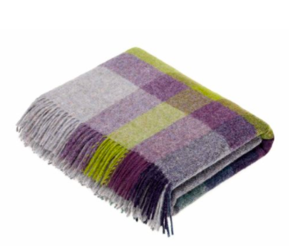 Harlequin Blackcurrant Wool Throw