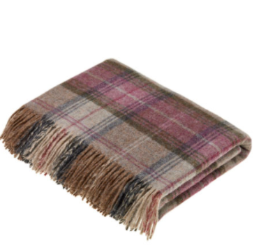 Stroud Heather Wool Throw