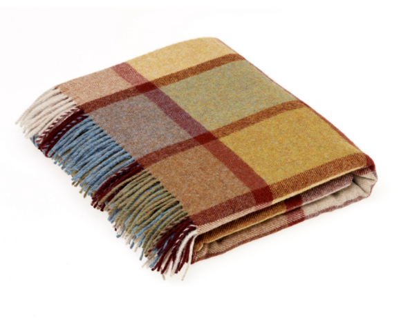 Pately Ochre Wool Throw