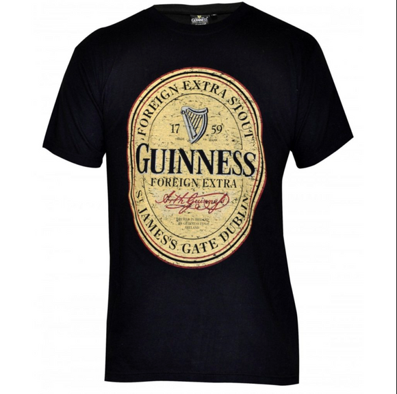 Distressed Guinness Logo Shirt