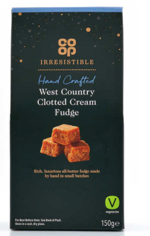 Co-op Irresistible Clotted Cream Fudge 200g