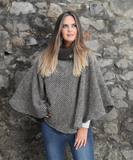 Laura Poncho - Brown and Beige