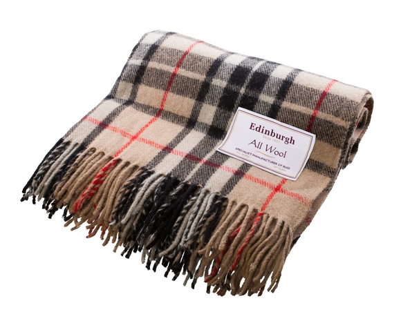 Thomson Camel Tartan Throw