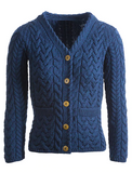Super Soft Merino Wool V-Neck Cable Cardigan