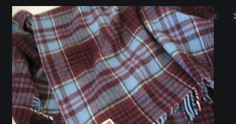 Royal Canadian Air Force Tartan Lambswool Throw