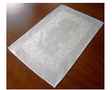 Irish Linen Damask Celtic White Placemats