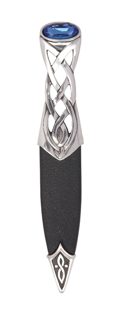 Islay Polished Pewter Sgian Dubh With Stone Top