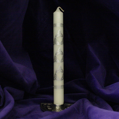 "Silver Trinity 9"" Candles (2 Pack)"