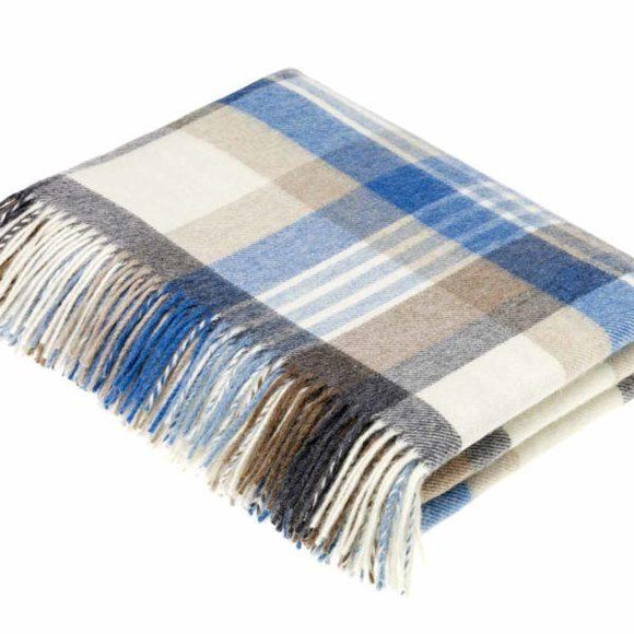 Melbourne Aqua Merino Wool Throw