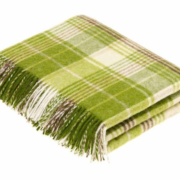 Huntingtower Lime Pure New Wool Throw