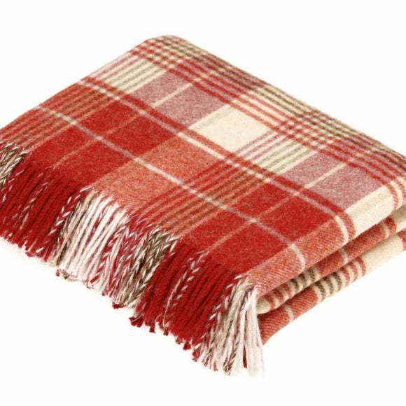 Huntingtower Terracotta Pure New Wool Throw