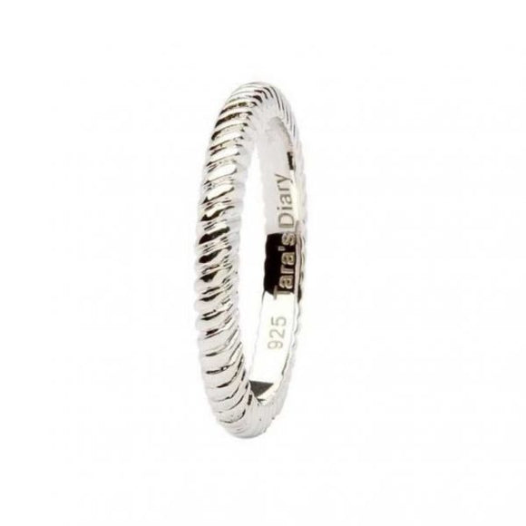 Spiral Band Silver Stacking Ring