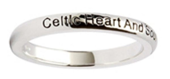 Celtic Heart and soul Silver Stacking Ring