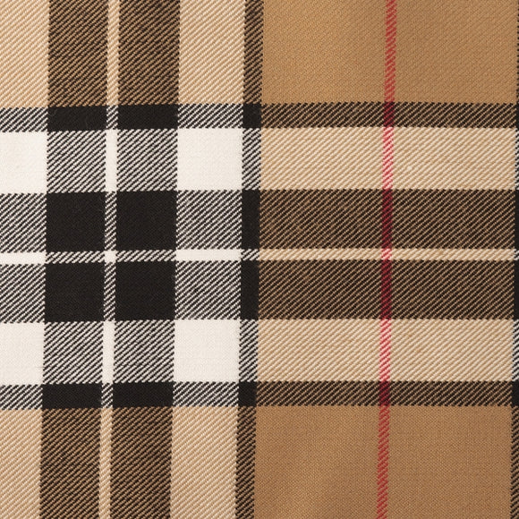 Thomson Camel Tartan Poly Viscose Cloth