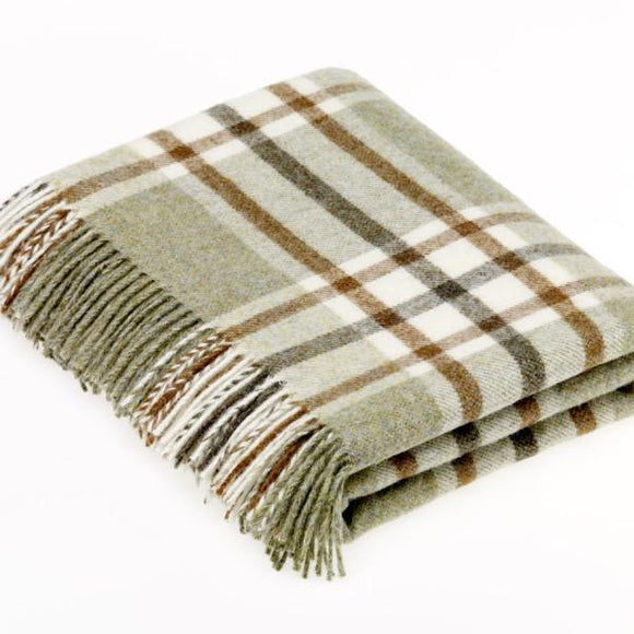 Arncliffe Sage Pure New Wool Throw