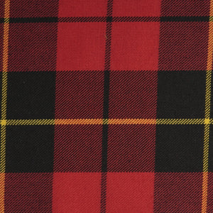Wallace Red Tartan Poly Viscose Cloth