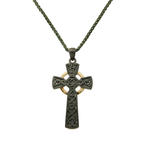 Rhutanium Circle Cross Large Pendant