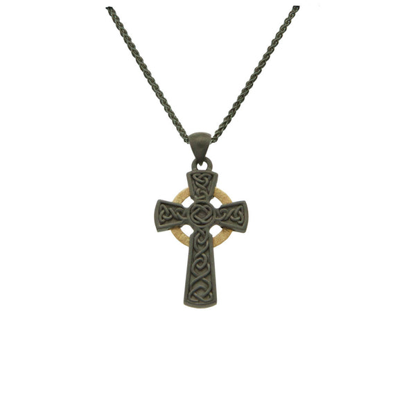 Rhutanium Circle Cross Small Pendant
