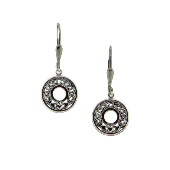 Claddagh Leverback Earrings
