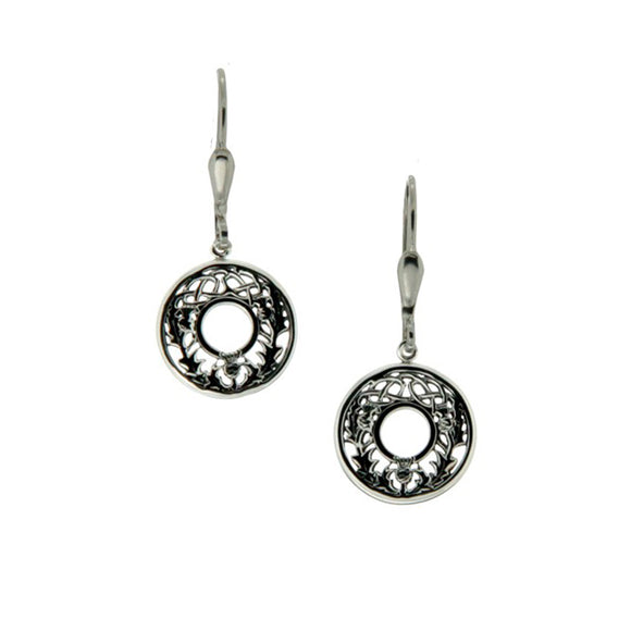 Thistle Leverback Earrings
