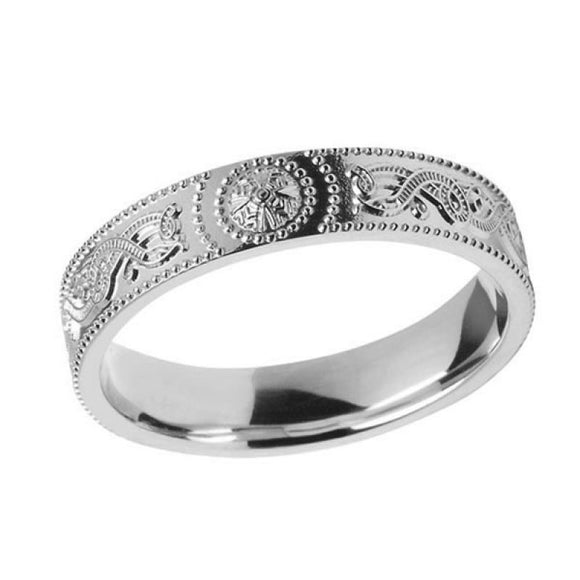 Ladies Comfort Fit Warrior Shield Ring