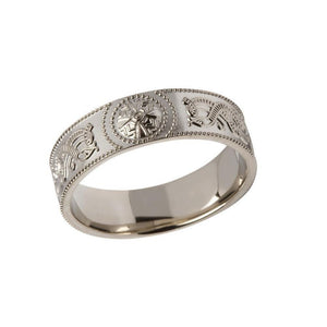 Gents Comfort Fit Celtic Warrior Shield Ring
