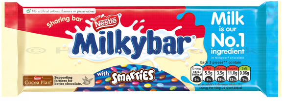 Nestle Milkybar Smarties Sharing Block